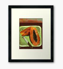 Papaya Framed Print