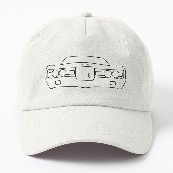 1971 Ford LTD outline graphic (black) Dad Hat
