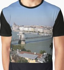 Budapest - Danube, Parliament and Bridges Graphic T-Shirt
