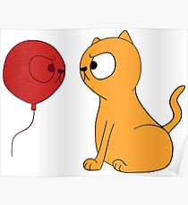 Catty Balloon Poster