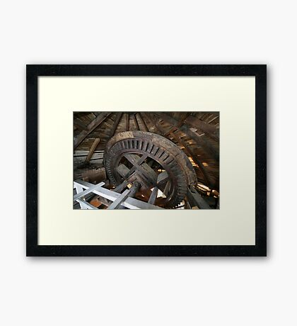 Cley Windmill machinery Framed Print