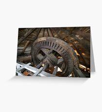 Cley Windmill machinery Greeting Card