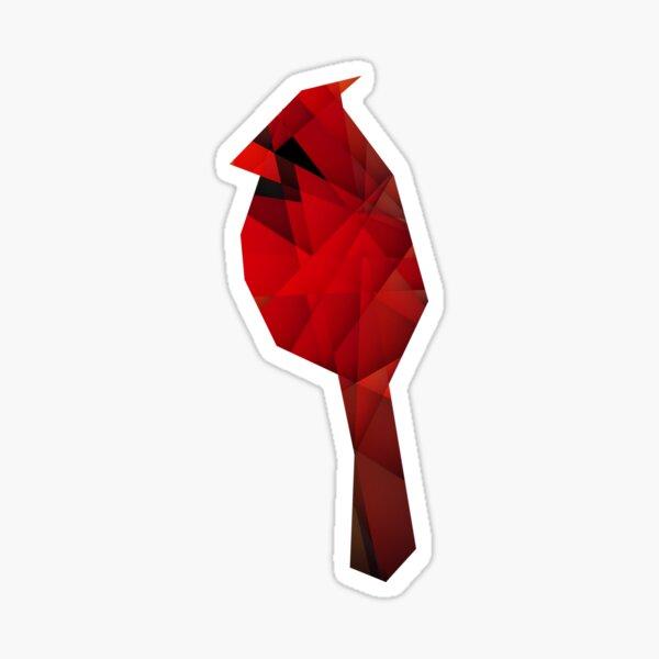 Glass Cardinal Sticker