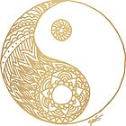 Gold Yin Yang by julieerindesign