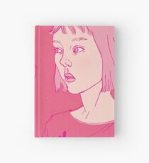 Girl eating an icecream on a hot day Hardcover Journal