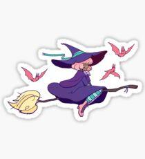 Pink Witch Sticker