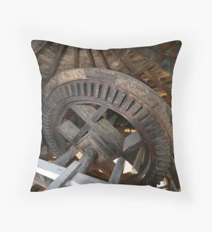 Cley Windmill machinery Throw Pillow