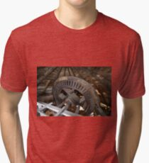 Cley Windmill machinery Tri-blend T-Shirt
