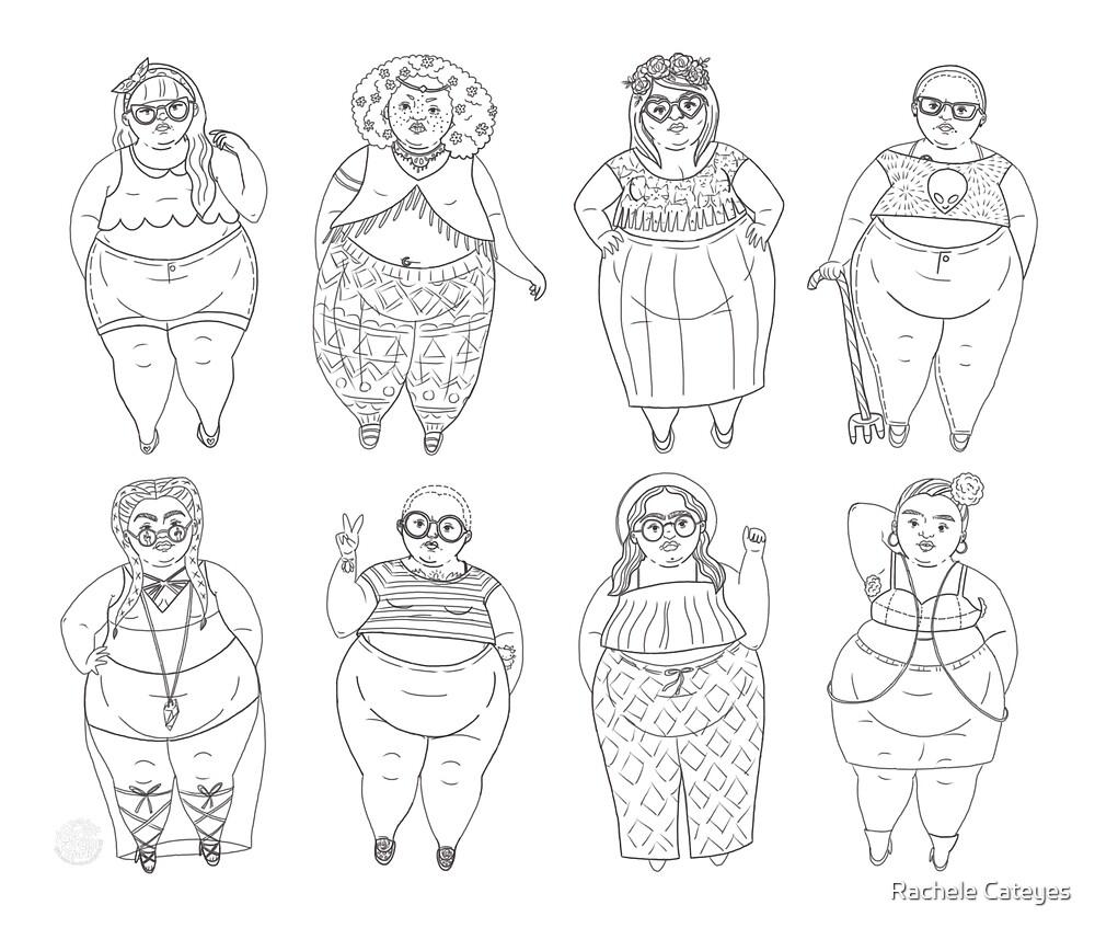 Superfat Crop Top Girl Gang by Rachele Cateyes