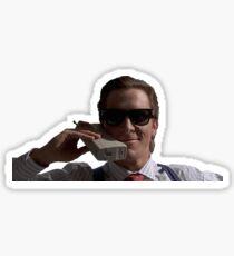 Patrick Bateman on Phone (American Psycho) Sticker