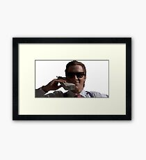 Patrick Bateman on Phone (American Psycho) Framed Print