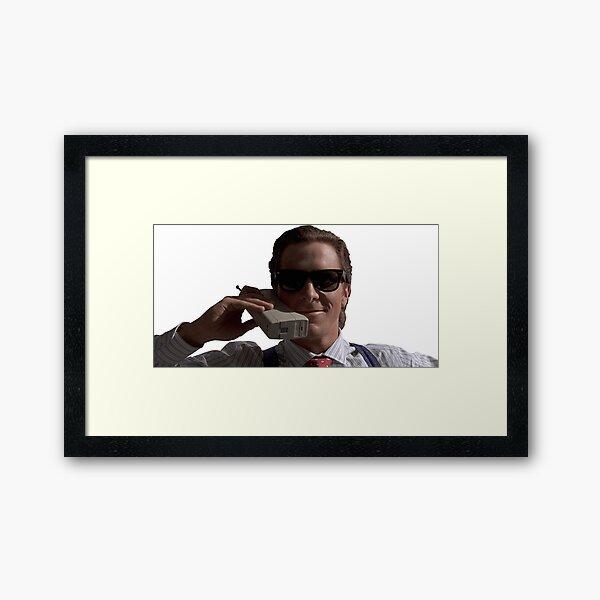Patrick Bateman on Phone (American Psycho) Framed Art Print