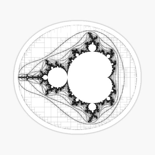 Black - Linear Mandelbrot  Sticker