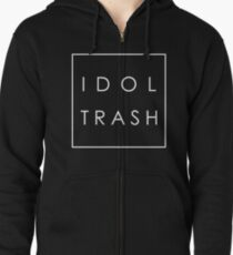Idol Trash (On Black) Zipped Hoodie