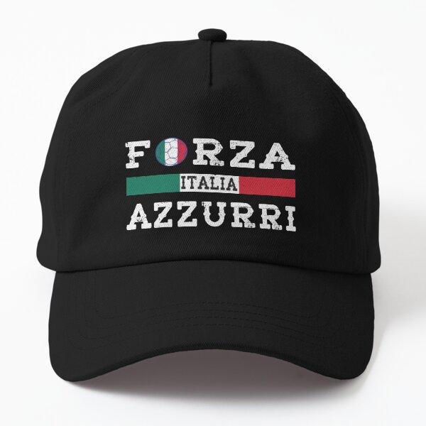 Italy Forza Azzurri Soccer Dad Hat