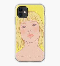 Lea- fashion illustration portrait iPhone Case