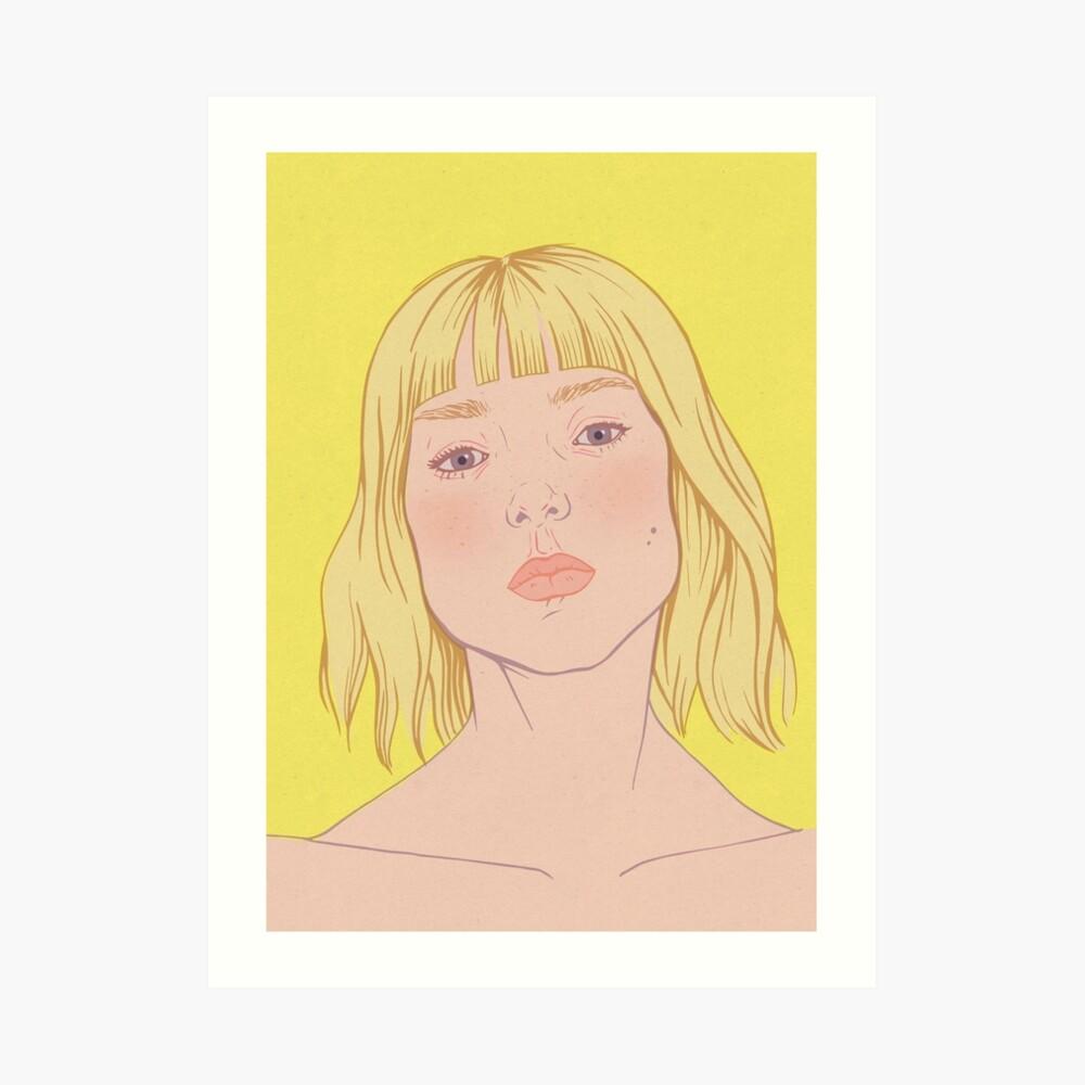 Lea- fashion illustration portrait Art Print