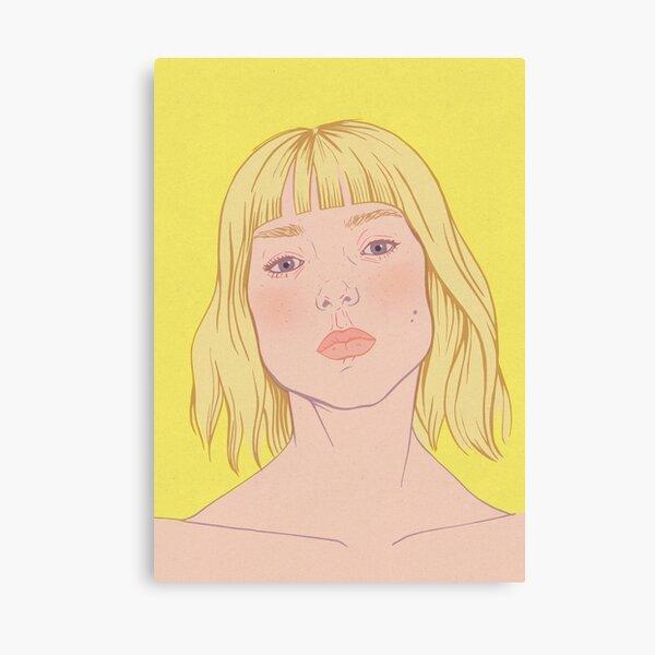 Lea- fashion illustration portrait Canvas Print