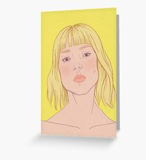 Lea- fashion illustration portrait Greeting Card