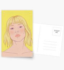 Lea- fashion illustration portrait Postcards