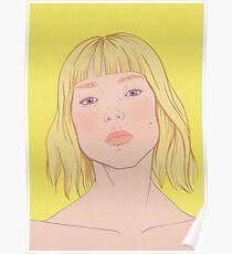 Lea- fashion illustration portrait Poster
