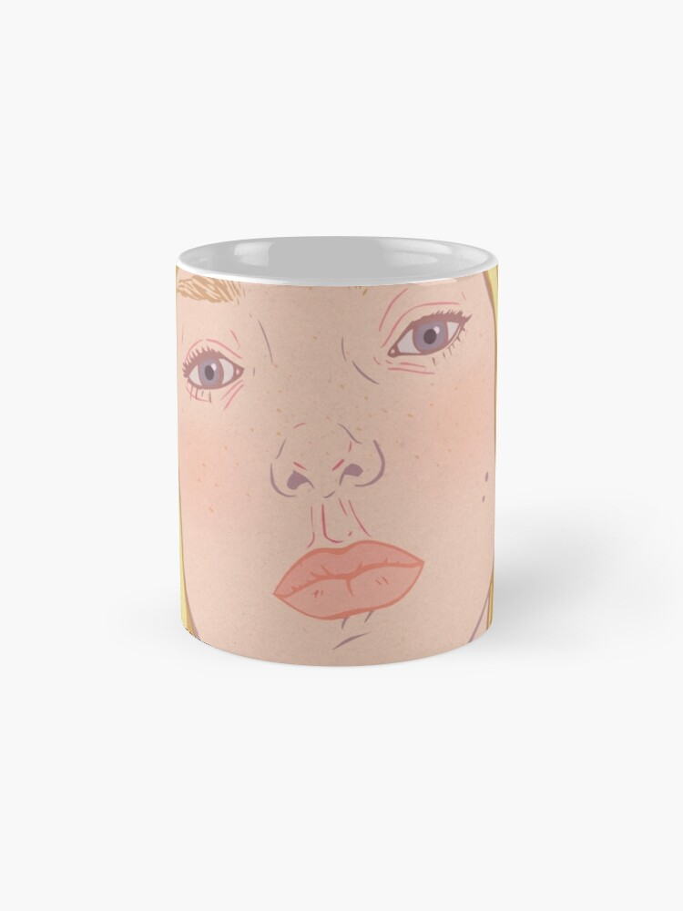 Alternate view of Lea- fashion illustration portrait Mug