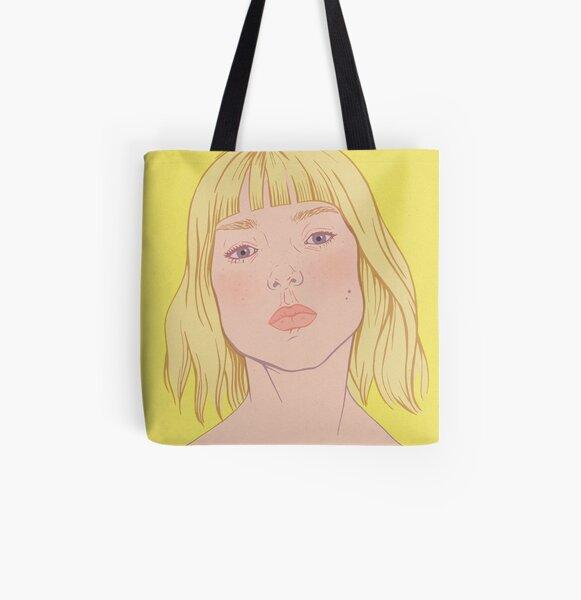 Lea- fashion illustration portrait All Over Print Tote Bag