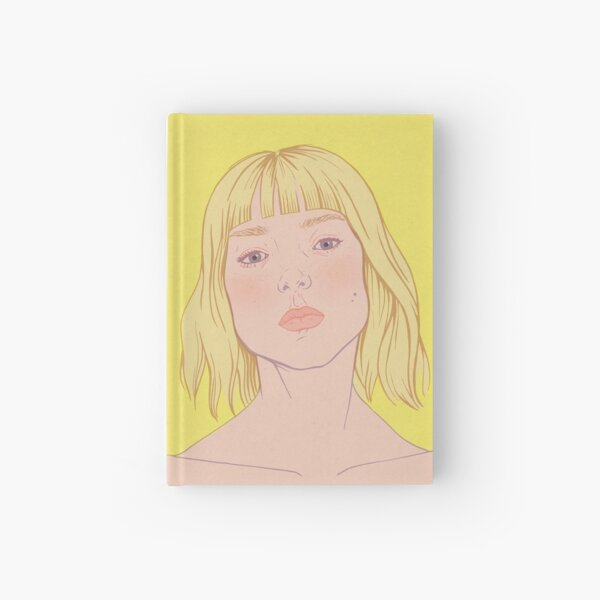Lea- fashion illustration portrait Hardcover Journal