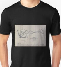 0333 Railroad Maps Preliminary sketch of the Northern Pacific Rail Road exploration and survey by I I Stevens Governor of Washington Unisex T-Shirt
