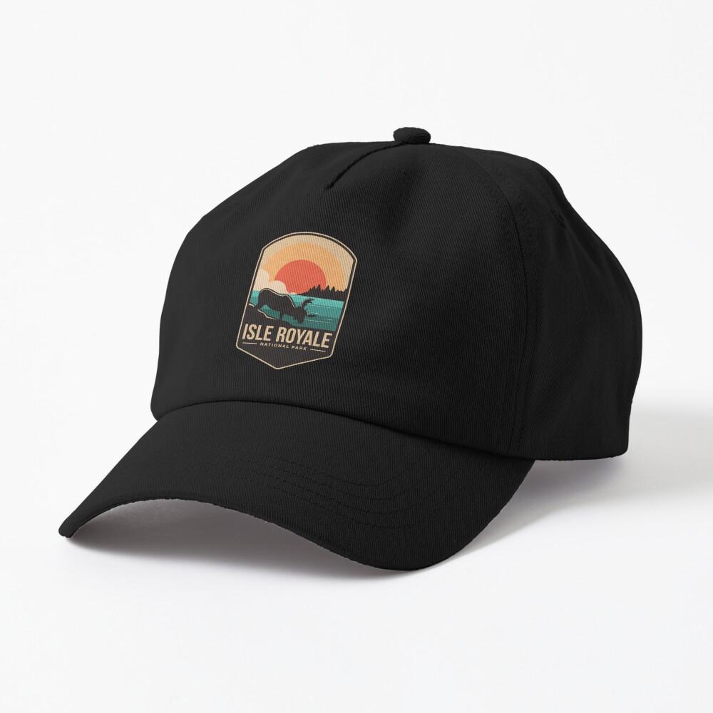 Isle royale national park emblem patch logo Cap