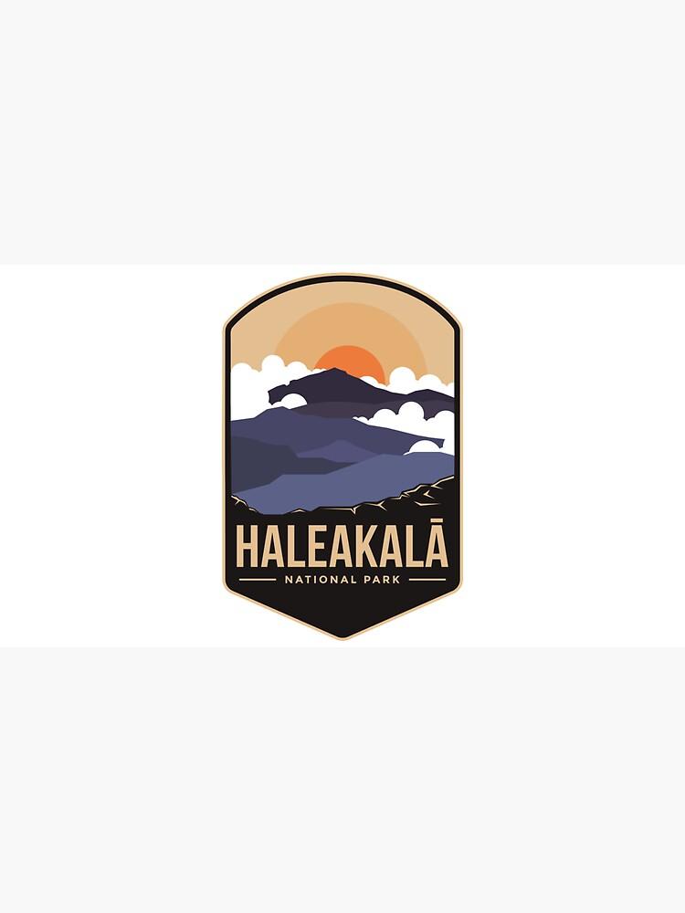 Haleakala mountains national park emblem patch logo by Rachidsolution