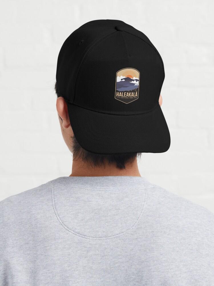 Alternate view of Haleakala mountains national park emblem patch logo Cap