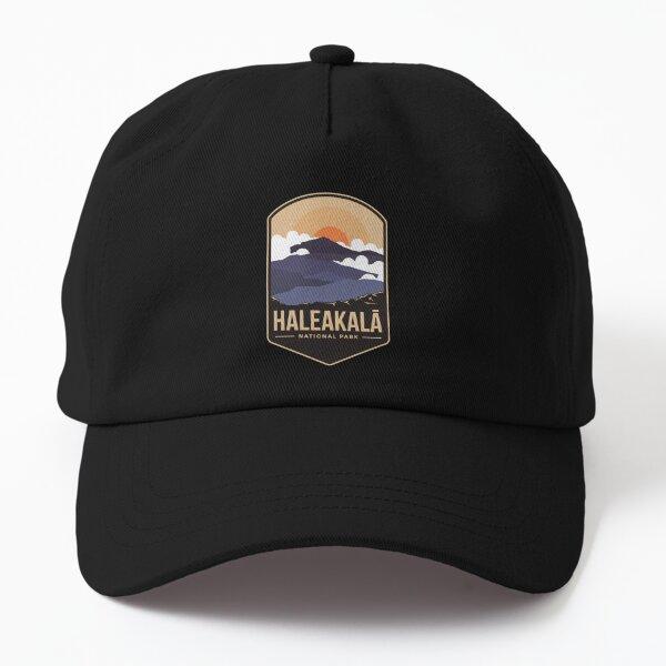 Haleakala mountains national park emblem patch logo Dad Hat