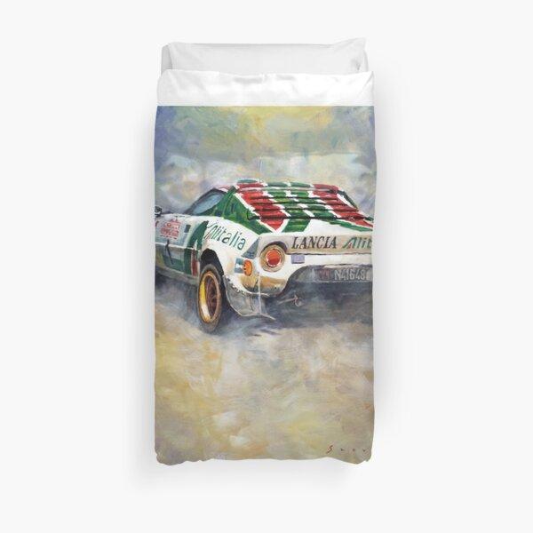 Lancia Stratos 1976 Rallye Sanremo Duvet Cover
