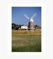 Cley Windmill and reedbeds Art Print