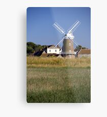 Cley Windmill and reedbeds Metal Print