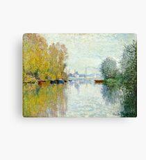 Claude Monet - Autumn On The Seine, Argenteuil 1873  Canvas Print
