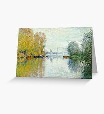 Claude Monet - Autumn On The Seine, Argenteuil 1873  Greeting Card