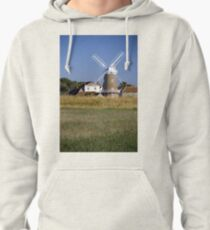 Cley Windmill and reedbeds Pullover Hoodie