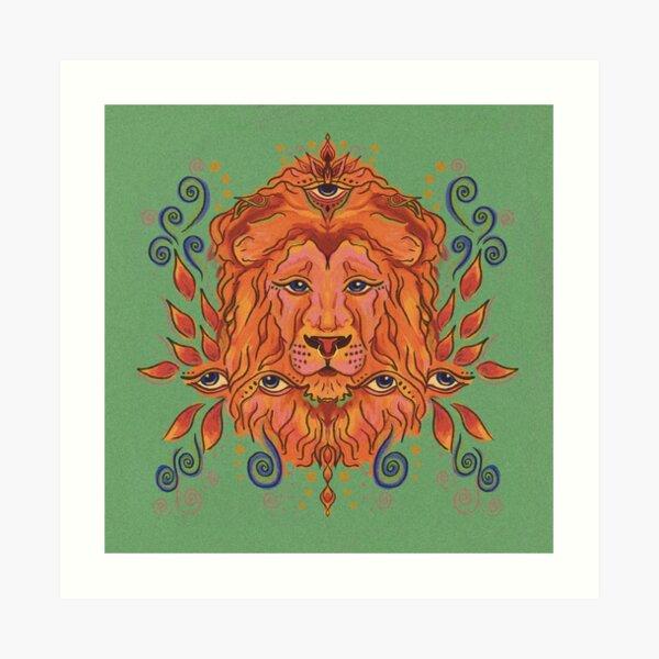 Löwe Kunstdruck