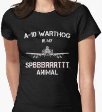 A-10 WARTHOG - Spirit Animal Womens Fitted T-Shirt