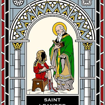 ST LEANDER OF SEVILLE under STAINED GLASS by CatholicSaints
