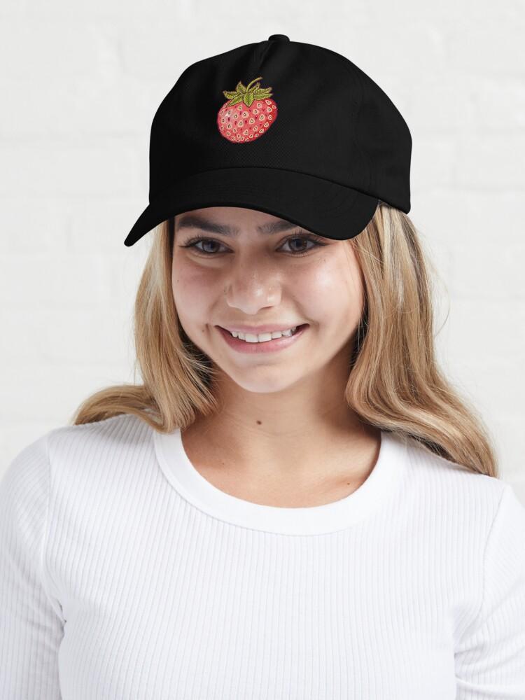 Alternate view of strawberry fields Cap