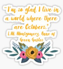 Anne of Green Gables, October Sticker