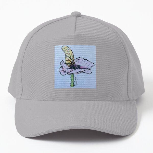 Resting butterfly on blue Baseball Cap