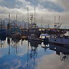 Newport Harbor, Newport Oregon by Chrissy Ferguson