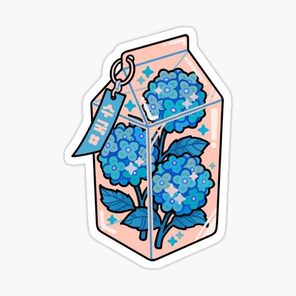 hydrangeas milkbox Sticker