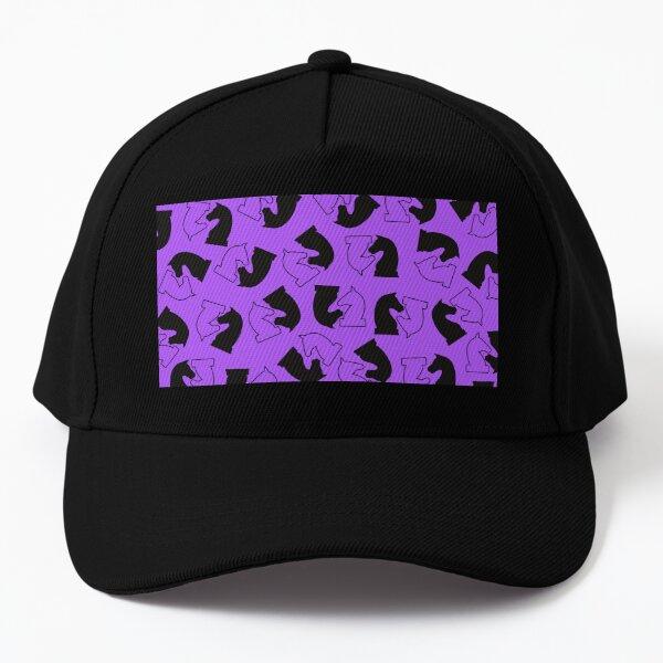 Chess Knight in Purple Background Baseball Cap
