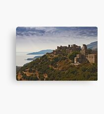 Vathia village Canvas Print