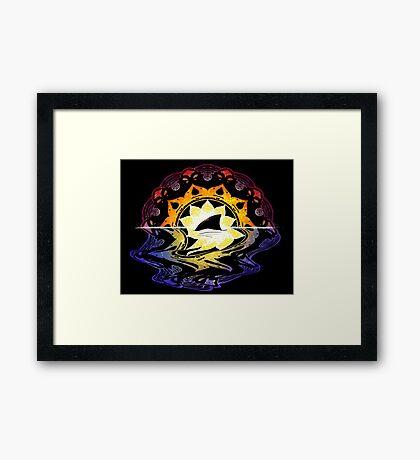 Mandala Sunset Framed Print